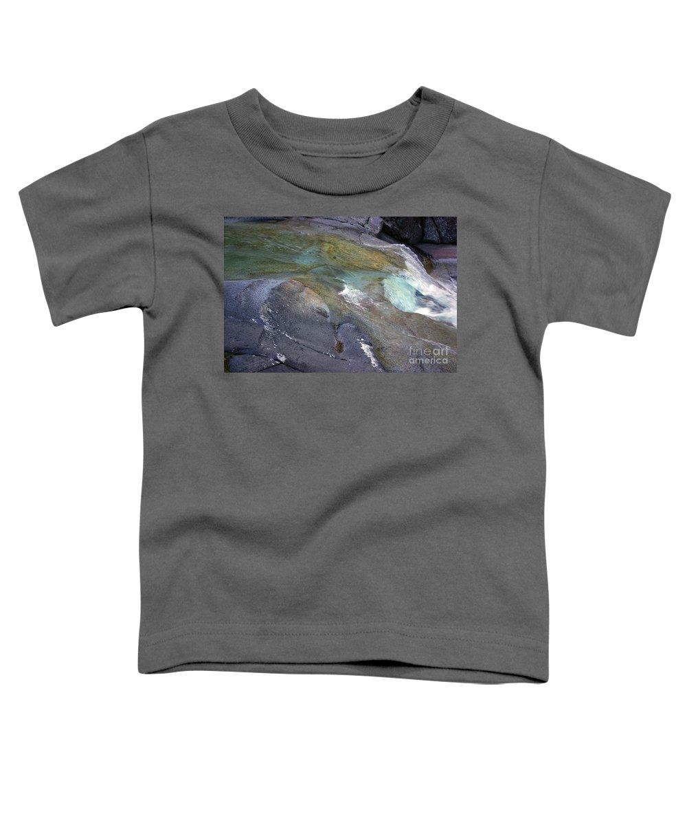 Tropical Toddler T-Shirt featuring the photograph Water Flow by Kerryn Madsen- Pietsch