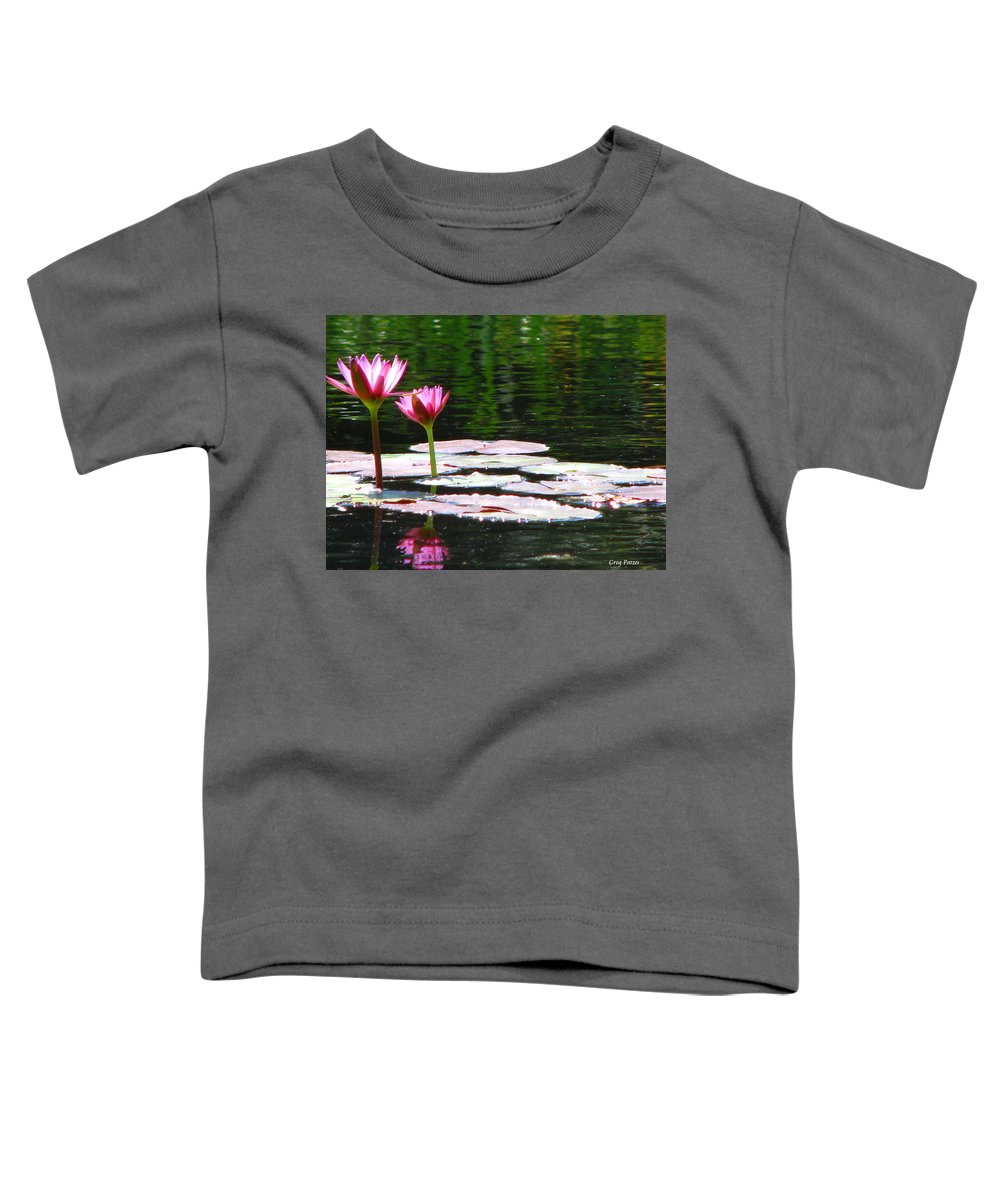 Patzer Toddler T-Shirt featuring the photograph Water Lily by Greg Patzer