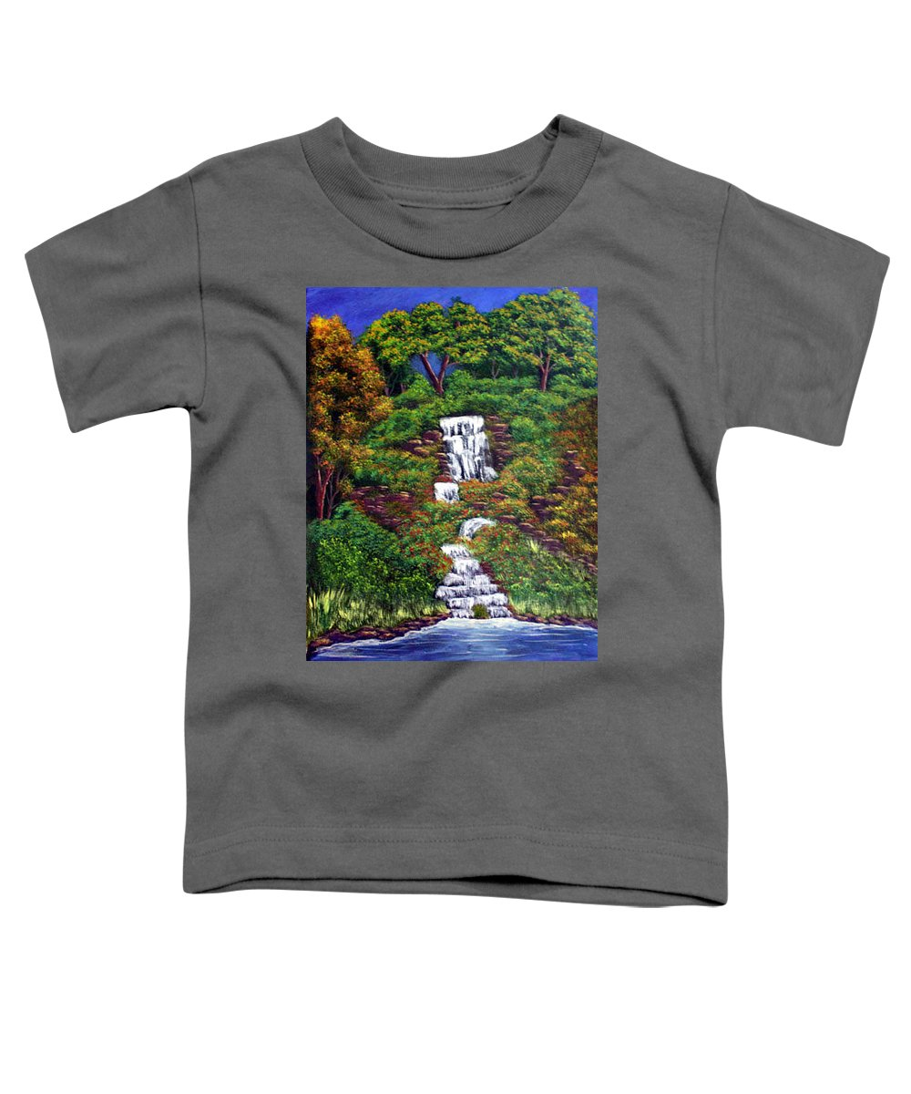 Waterfall Toddler T-Shirt featuring the painting Waterfall by Dawn Blair