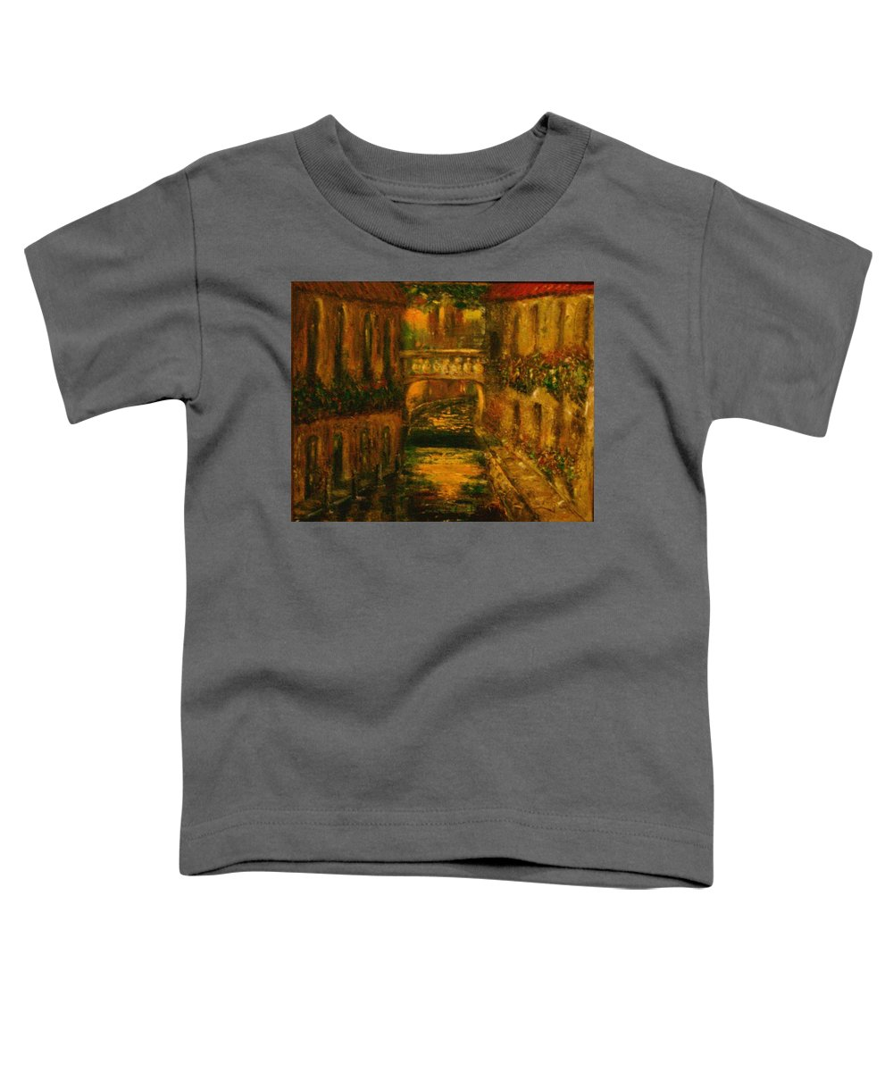 Landscape Toddler T-Shirt featuring the painting Waters Of Europe by Stephen King