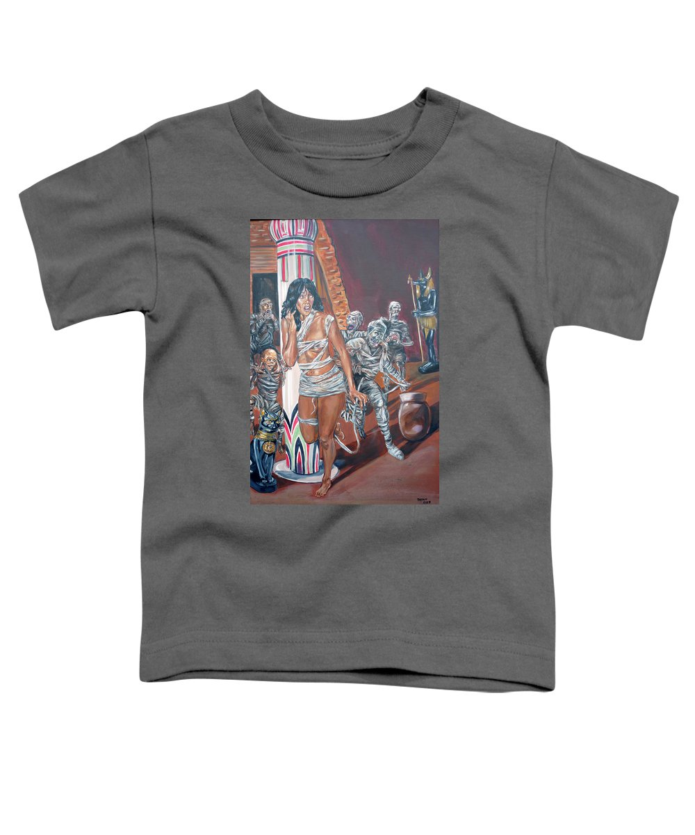 Egypt Toddler T-Shirt featuring the painting Well Preserved by Bryan Bustard