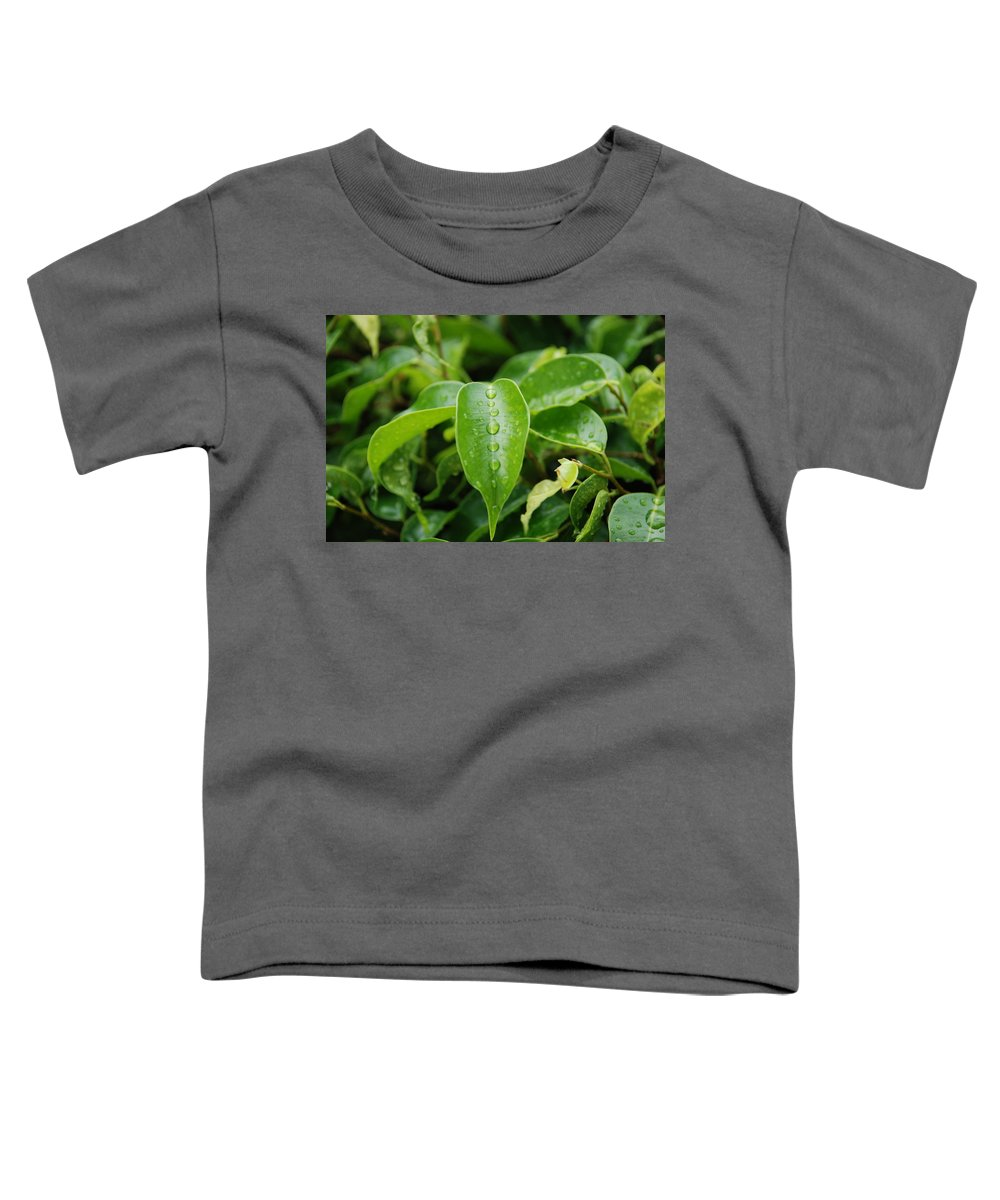Macro Toddler T-Shirt featuring the photograph Wet Bushes by Rob Hans