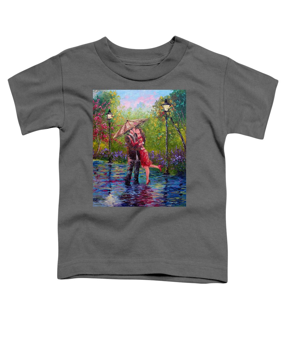 Kiss Toddler T-Shirt featuring the painting Wet Kiss by David G Paul