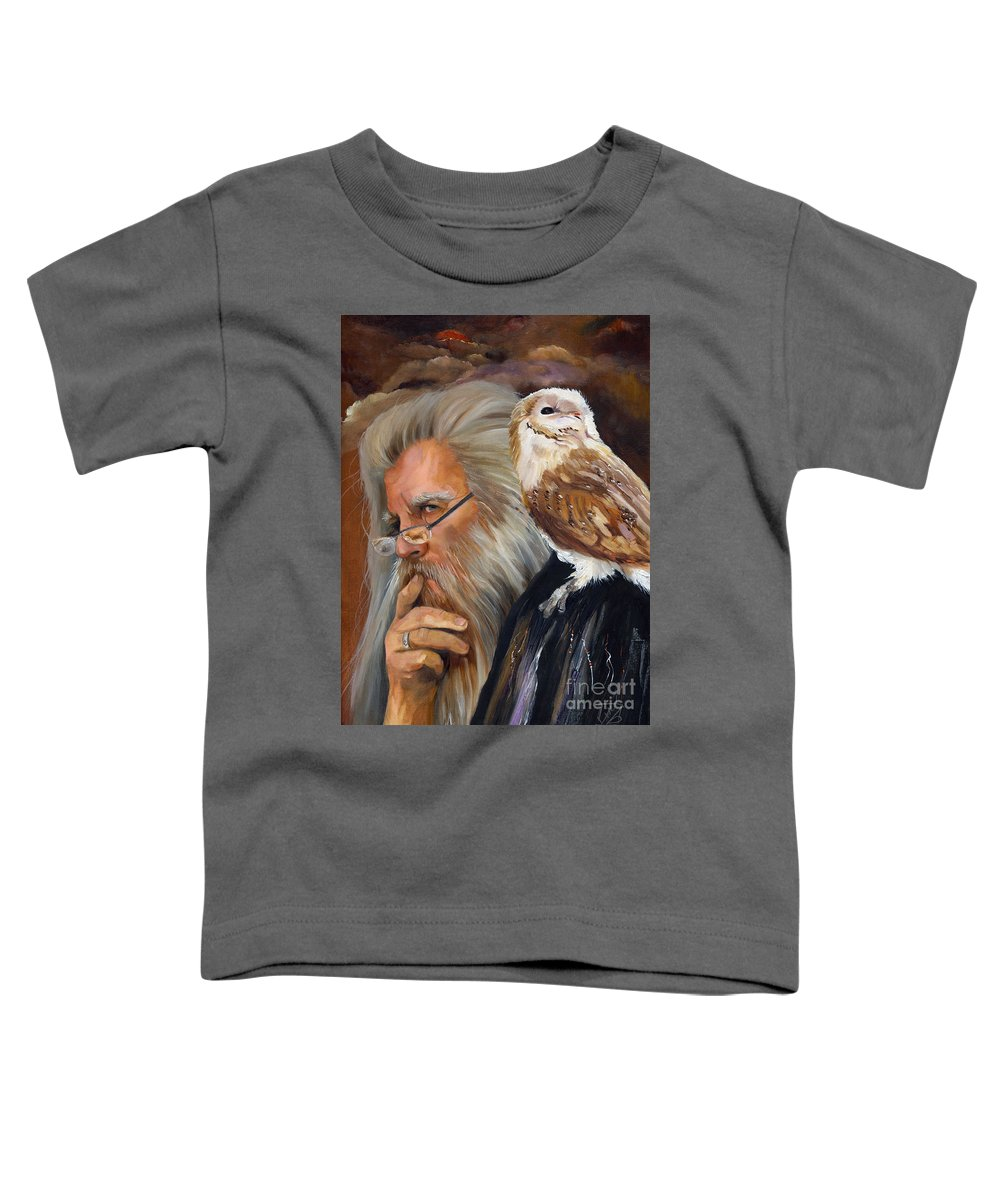 Wizard Toddler T-Shirt featuring the painting What If... by J W Baker