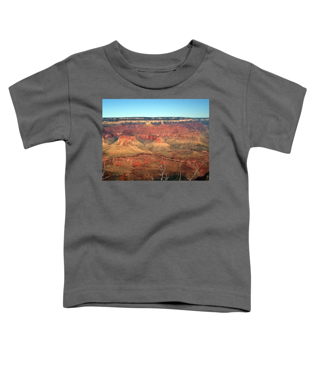 Grand Canyon Toddler T-Shirt featuring the photograph Whata View by Shelley Jones