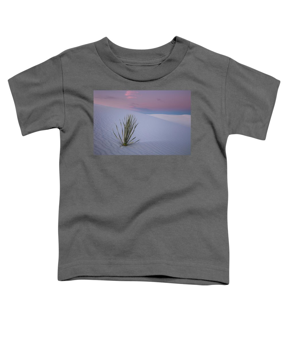 White Toddler T-Shirt featuring the photograph White Dunes by Edgars Erglis