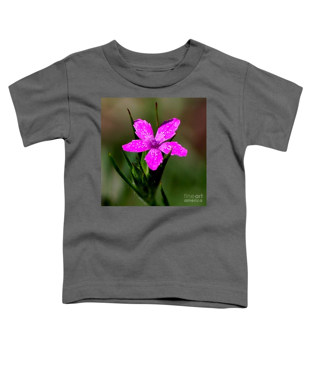 Digital Photo Toddler T-Shirt featuring the photograph Wild Pink by David Lane
