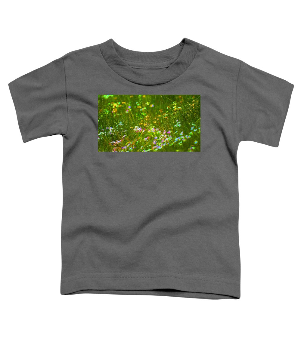 Wildflower Toddler T-Shirt featuring the photograph Wildflower Field by Heather Coen