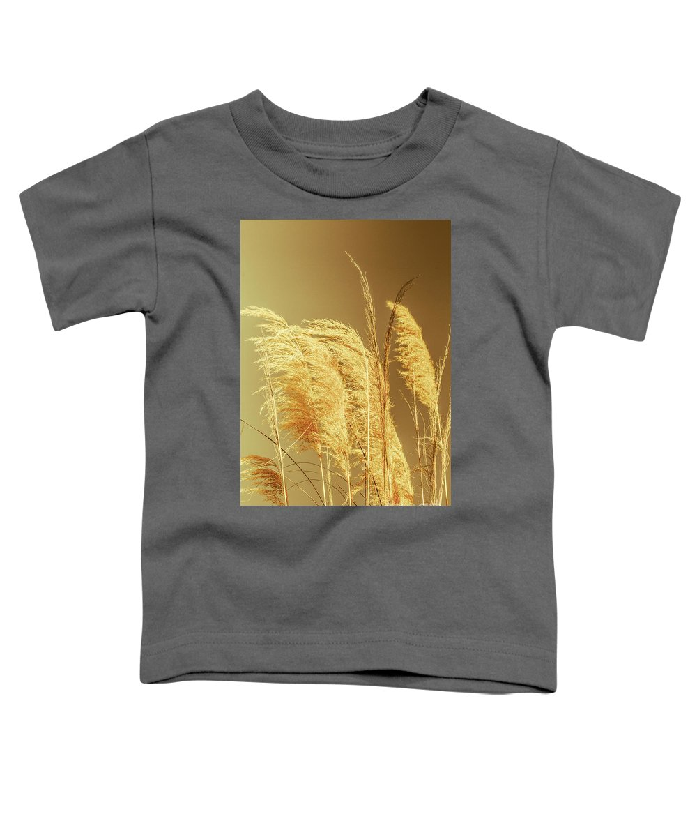 Dry Toddler T-Shirt featuring the photograph Windswept Autumn Brush Grass by Jorgo Photography - Wall Art Gallery
