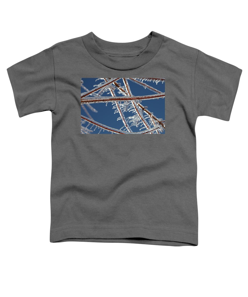 Winter Toddler T-Shirt featuring the photograph Winter Blue by Nadine Rippelmeyer