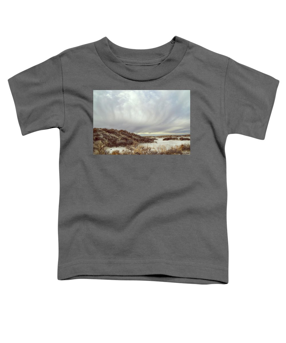 Landscapes Toddler T-Shirt featuring the photograph Winter Storm Clouds 2018-2289 by Karen W Meyer