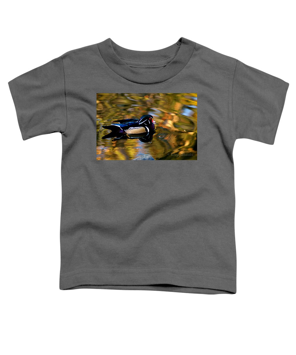 Clay Toddler T-Shirt featuring the photograph Wood Duck by Clayton Bruster