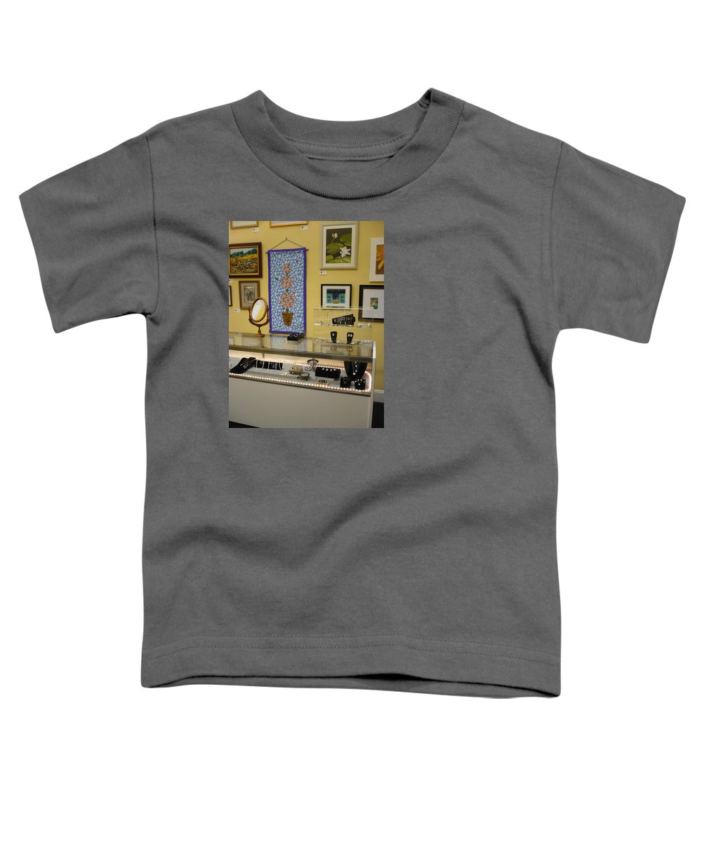 Oil Toddler T-Shirt featuring the painting World-view by Sergey Ignatenko