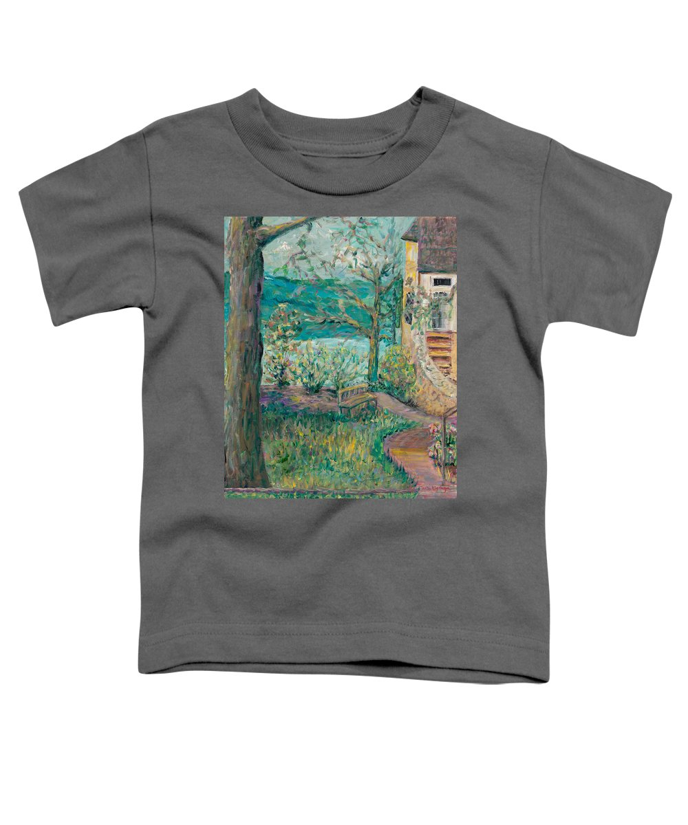 Big Cedar Lodge Toddler T-Shirt featuring the painting Worman House At Big Cedar Lodge by Nadine Rippelmeyer