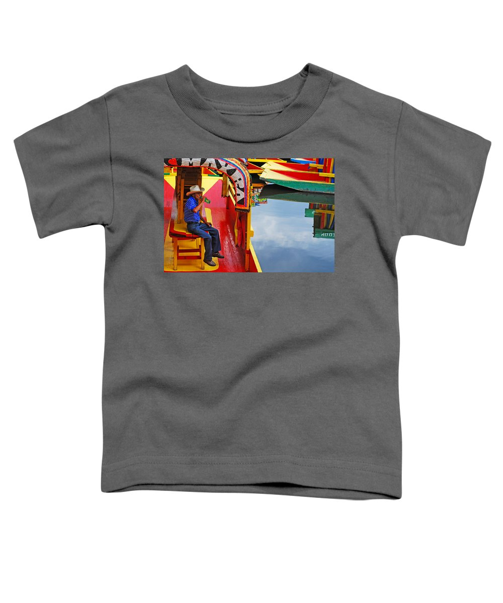 Skip Hunt Toddler T-Shirt featuring the photograph Xochimilco by Skip Hunt