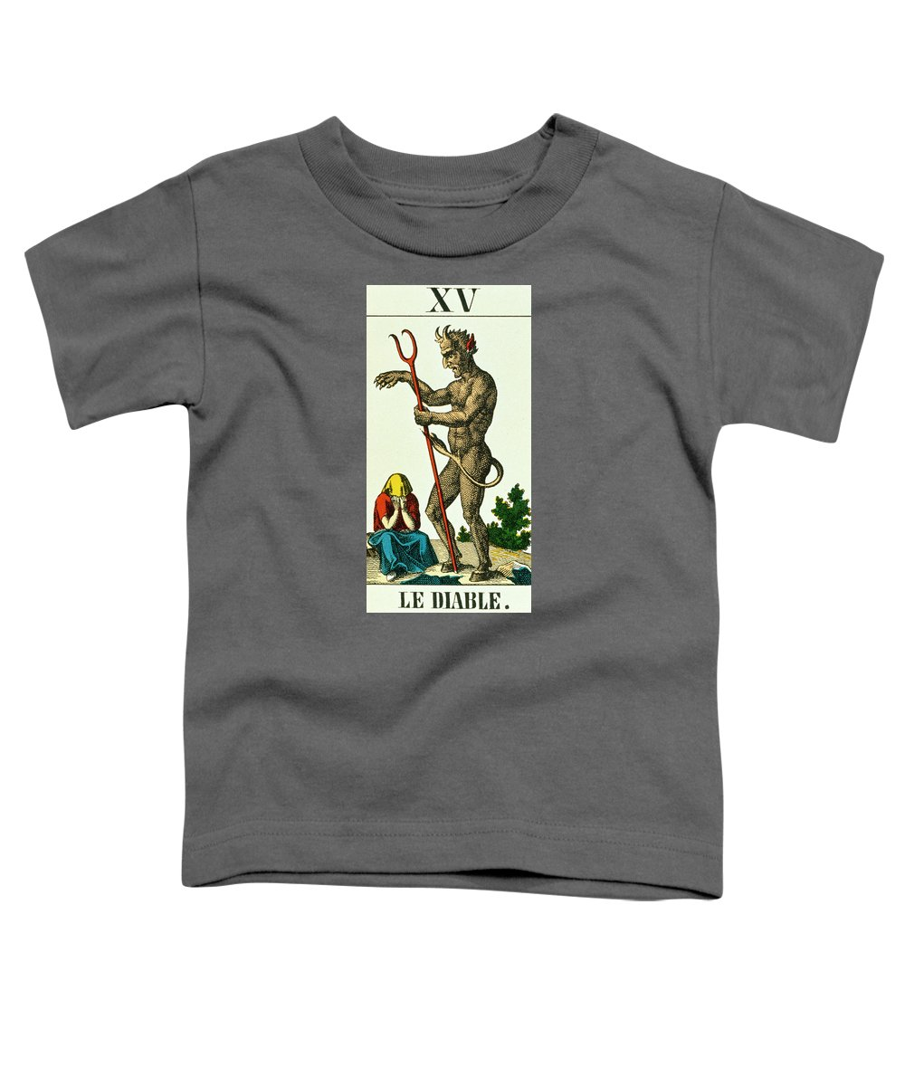 The Devil Toddler T-Shirt featuring the painting Xv The Devil  Tarot Card by French School