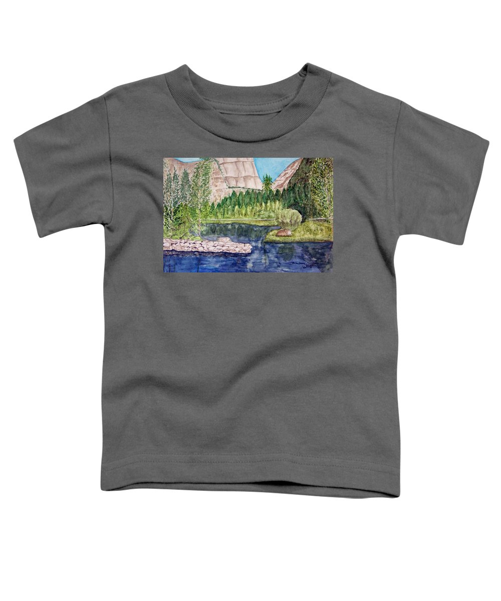 Yosemite National Park Toddler T-Shirt featuring the painting Yosemite by Larry Wright