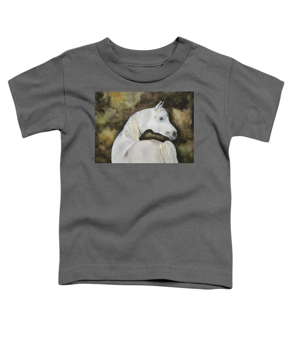 Horse Toddler T-Shirt featuring the painting You Talking To Me by Jean Blackmer