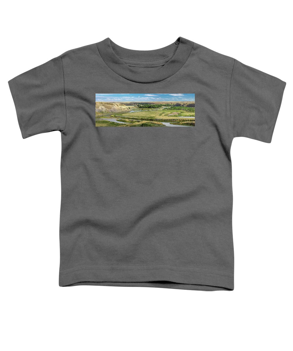 Panorama Toddler T-Shirt featuring the photograph Marias River Valley by Todd Klassy