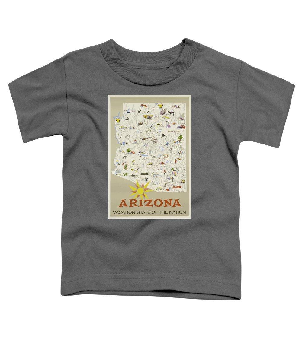 Arizona Toddler T-Shirt featuring the painting Vintage Travel Poster - Arizona by Esoterica Art Agency