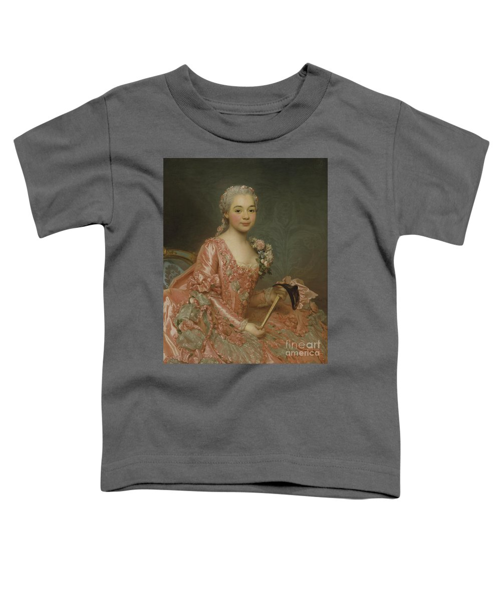 Girl Toddler T-Shirt featuring the painting Baroness De Neubourg-cromiere by Alexander Roslin