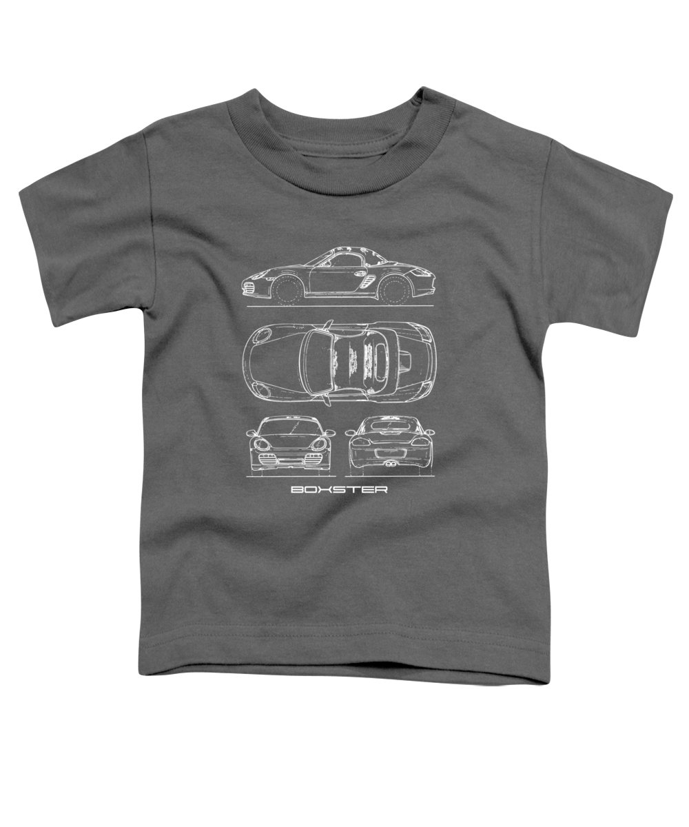 Porsche Toddler T-Shirt featuring the photograph The Boxster Blueprint by Mark Rogan