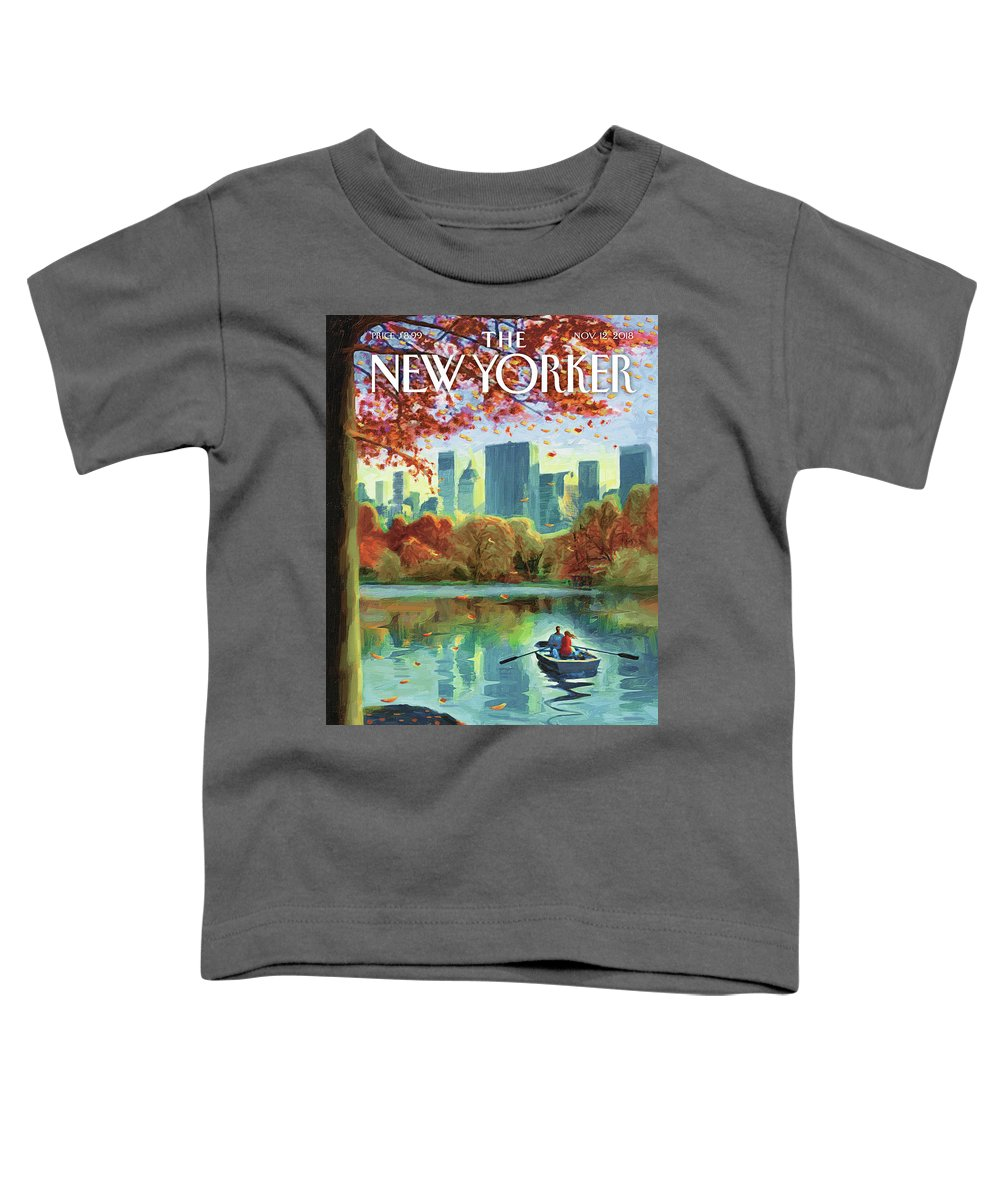 Autumn Central Park Toddler T-Shirt featuring the drawing Autumn Central Park by Eric Drooker