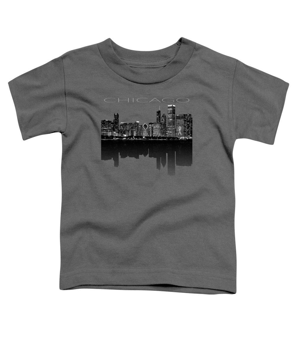 men's Novelty Hoodies Toddler T-Shirt featuring the digital art Chicago Skyline Hoodie Sweatshirt by Unique Tees