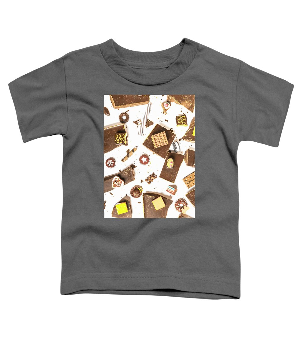 Confectionery Toddler T-Shirt featuring the photograph Chocolate Bar Break by Jorgo Photography - Wall Art Gallery