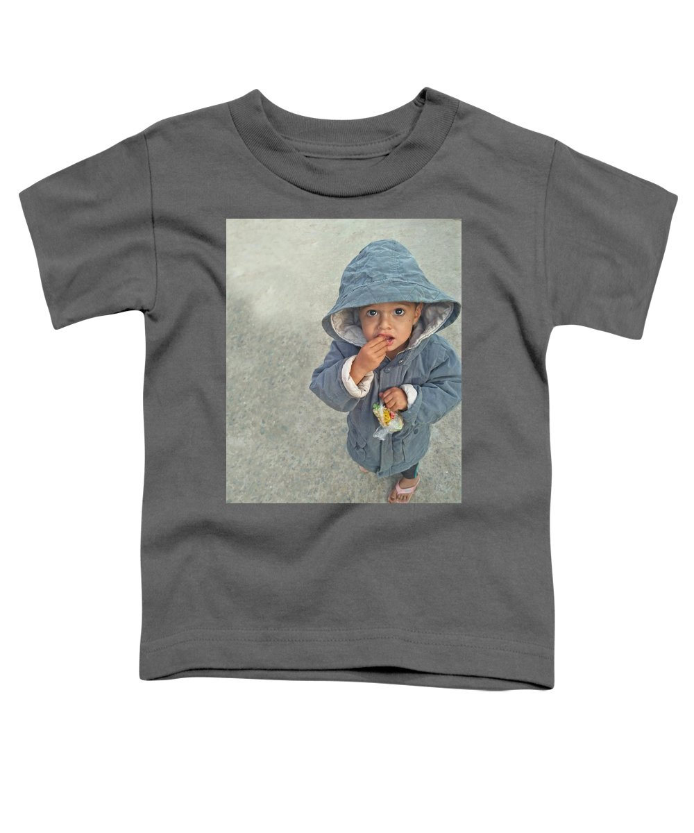 Cute Toddler T-Shirt featuring the photograph Cute Baby by Imran Khan