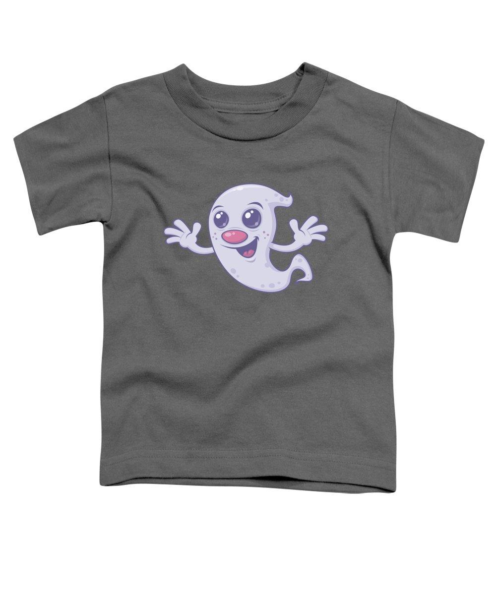 Apparition Toddler T-Shirt featuring the digital art Cute Retro Ghost by John Schwegel