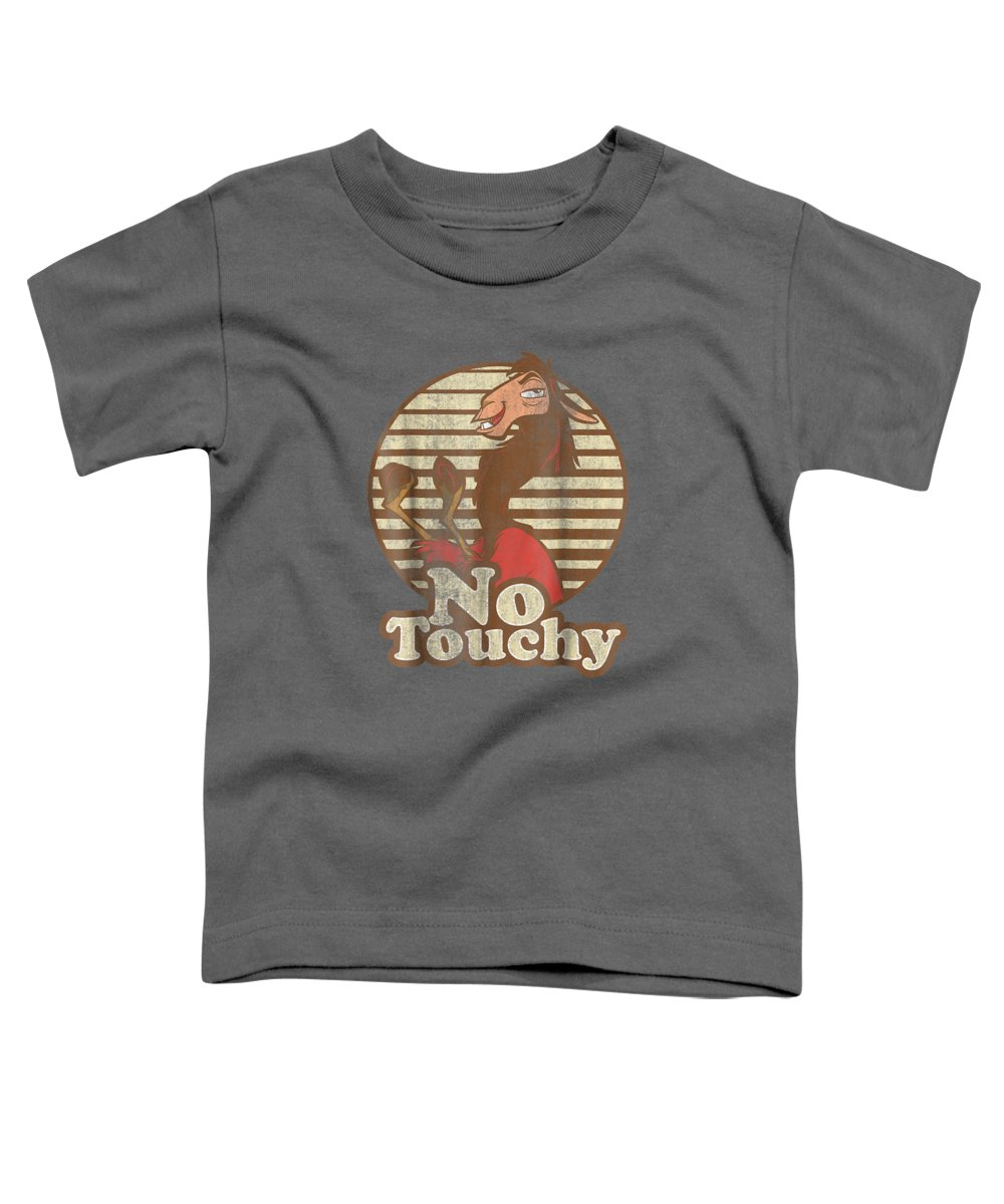 women's Shops Toddler T-Shirt featuring the digital art Disney Emperor's New Groove Kuzco Llama No Touchy T-shirt by Unique Tees
