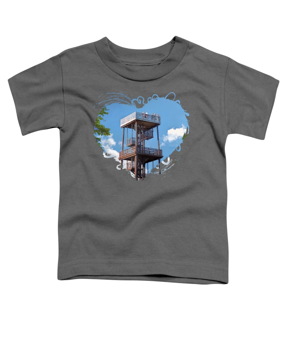 Door County Toddler T-Shirt featuring the painting Door County Eagle Tower Peninsula State Park by Christopher Arndt