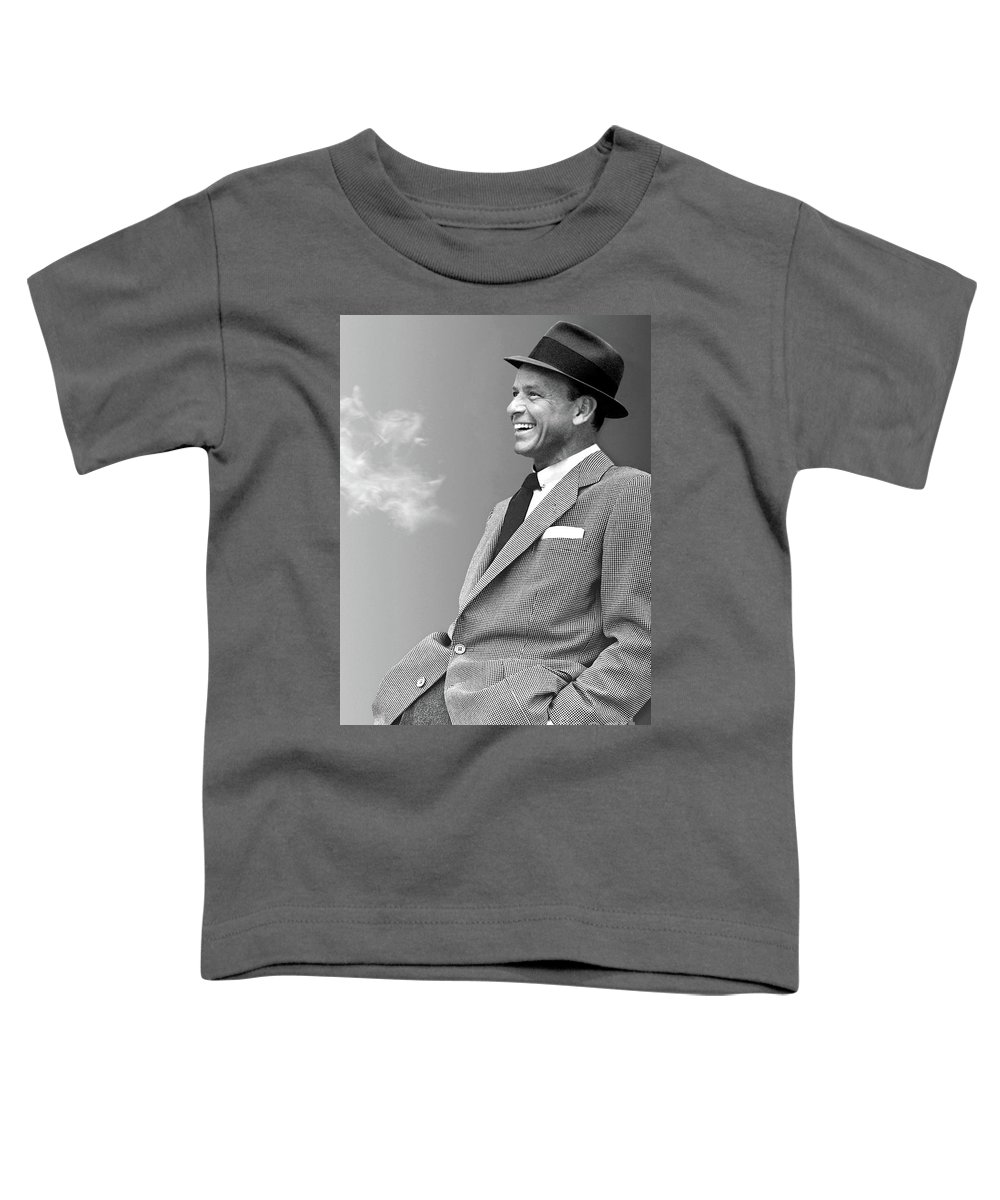 Frank Sinatra Toddler T-Shirt featuring the mixed media Frank Sinatra, the chairman, cool by Thomas Pollart