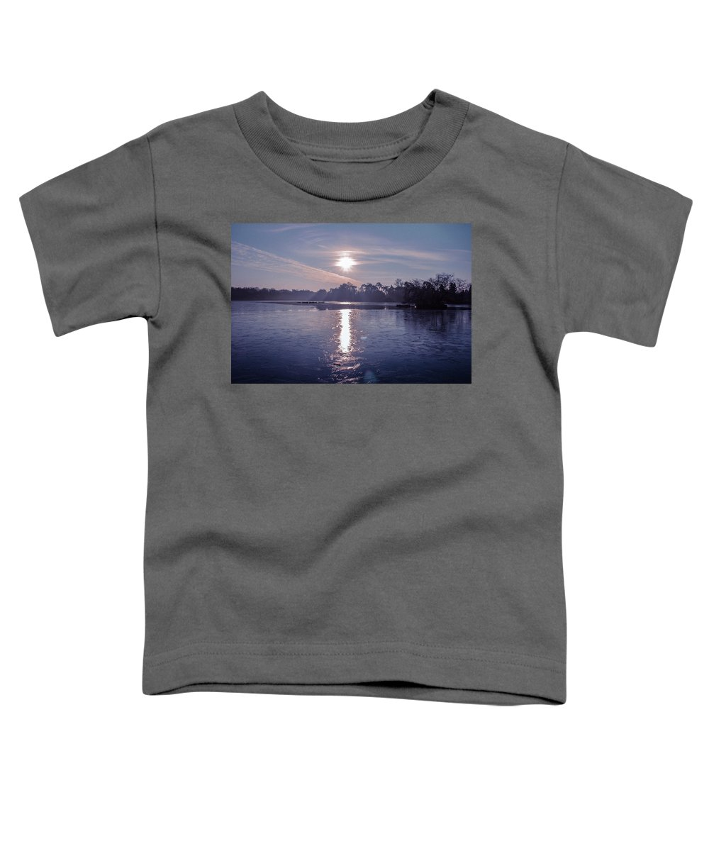 Lake Toddler T-Shirt featuring the photograph Frozen by Claire Lowe