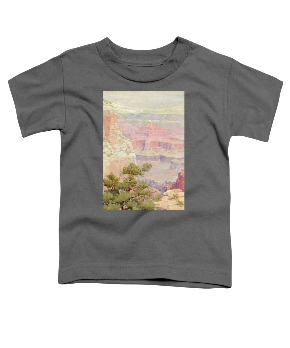 Louis Akin Toddler T-Shirt featuring the painting Grand Canyon, 1904 by Louis Akin