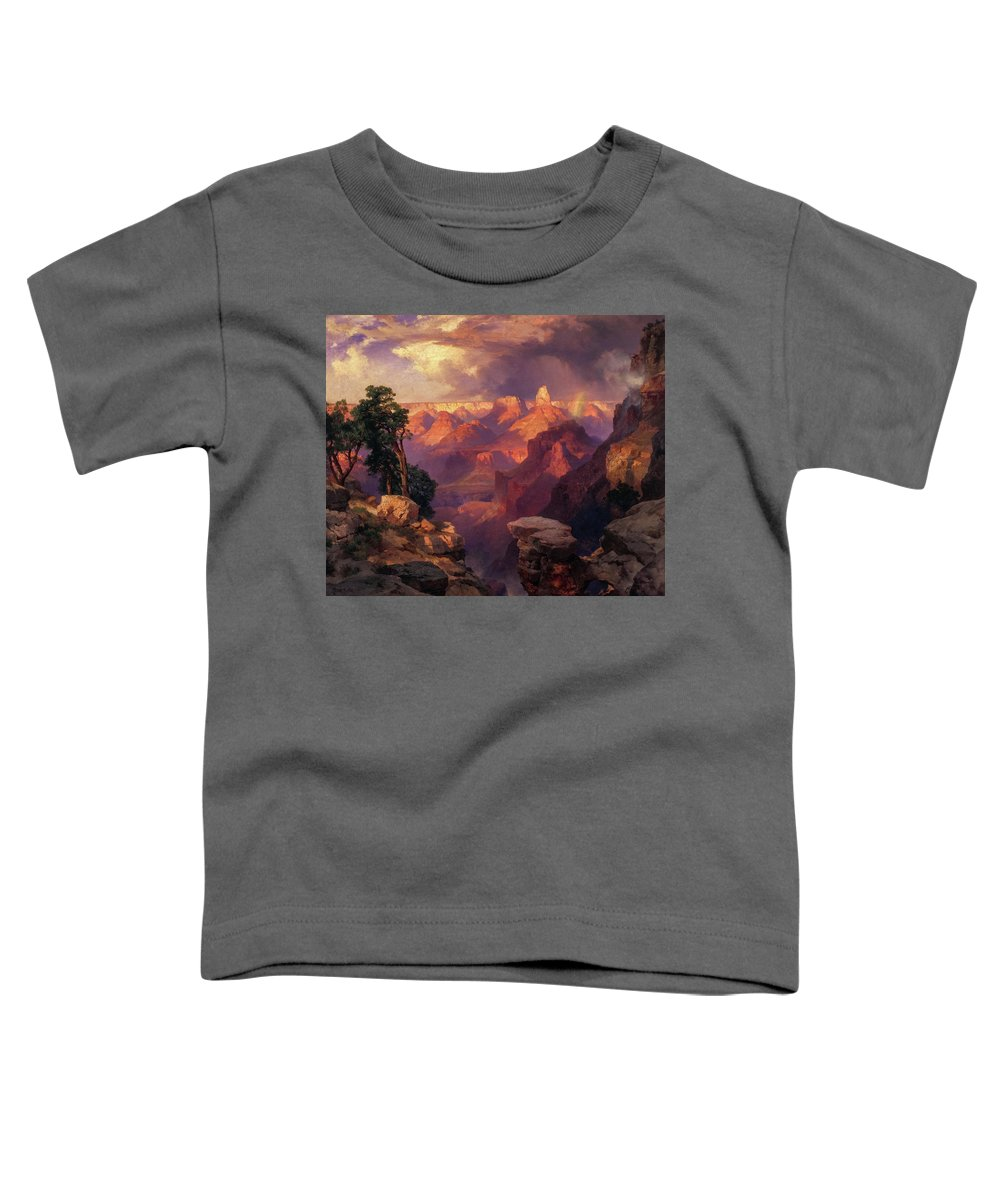 Thomas Moran Toddler T-Shirt featuring the painting Grand Canyon With Rainbow, 1912 by Thomas Moran