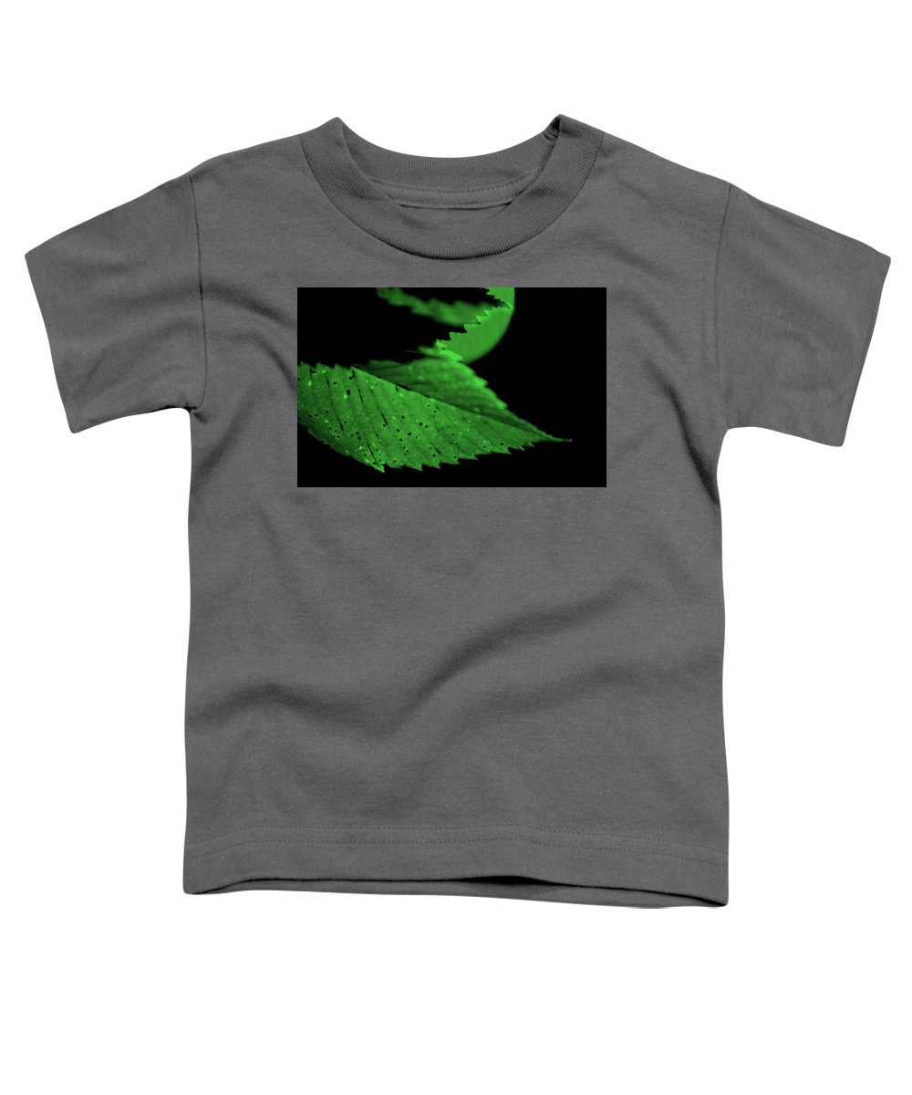 Leaf Toddler T-Shirt featuring the photograph Green Leaf in Sun by Lonnie Paulson