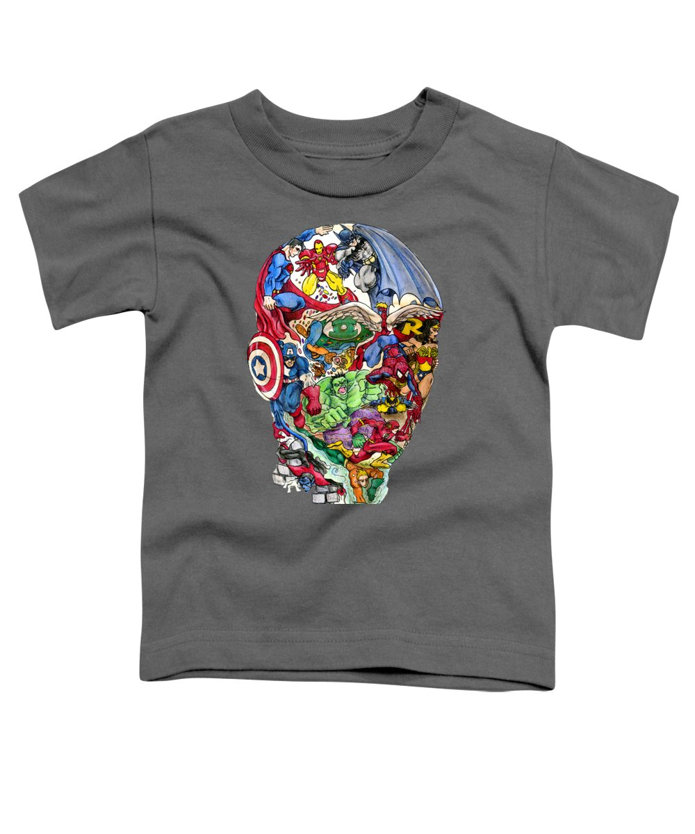 Face Drawings Toddler T-Shirts