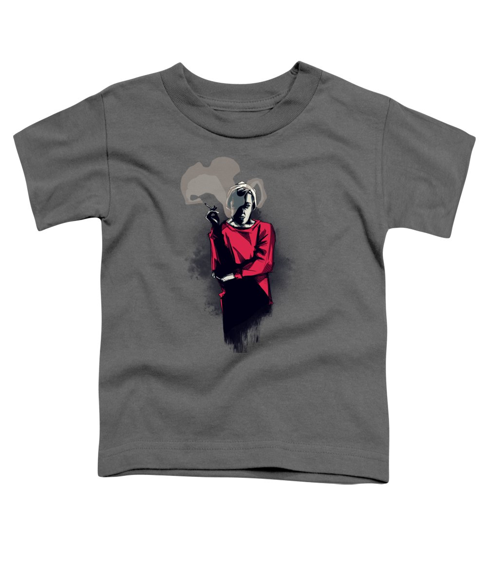 Tale Toddler T-Shirt featuring the drawing June by Ludwig Van Bacon