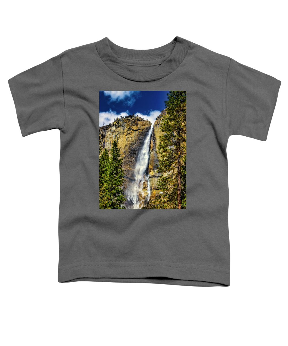 Upper Toddler T-Shirt featuring the photograph Majestic Upper Yosemite Fall by Garry Gay