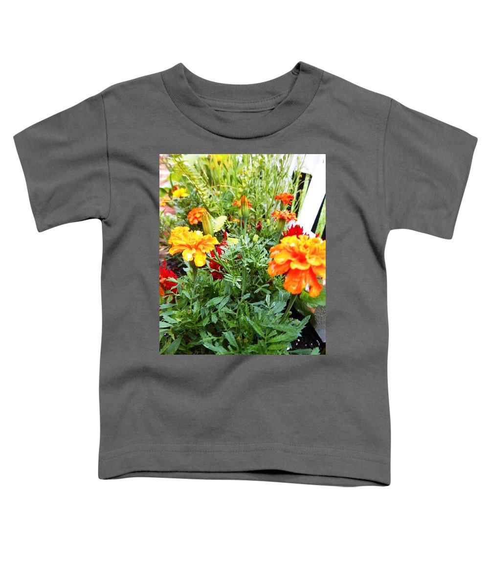 Blue Toddler T-Shirt featuring the photograph Mary Gold by Lord Frederick Lyle Morris - Disabled Veteran