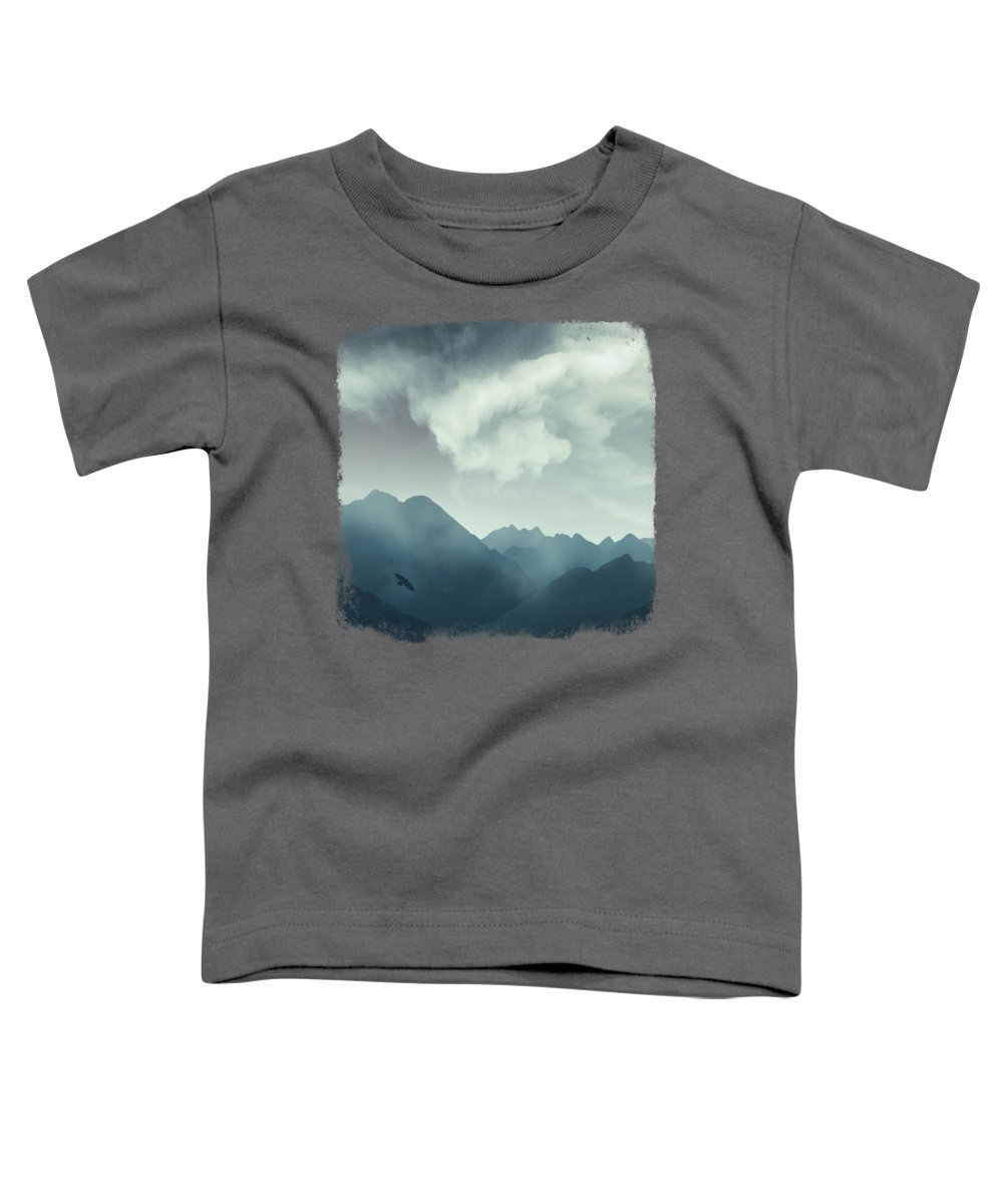 Alps Toddler T-Shirt featuring the photograph Mountain Shapes by Dirk Wuestenhagen