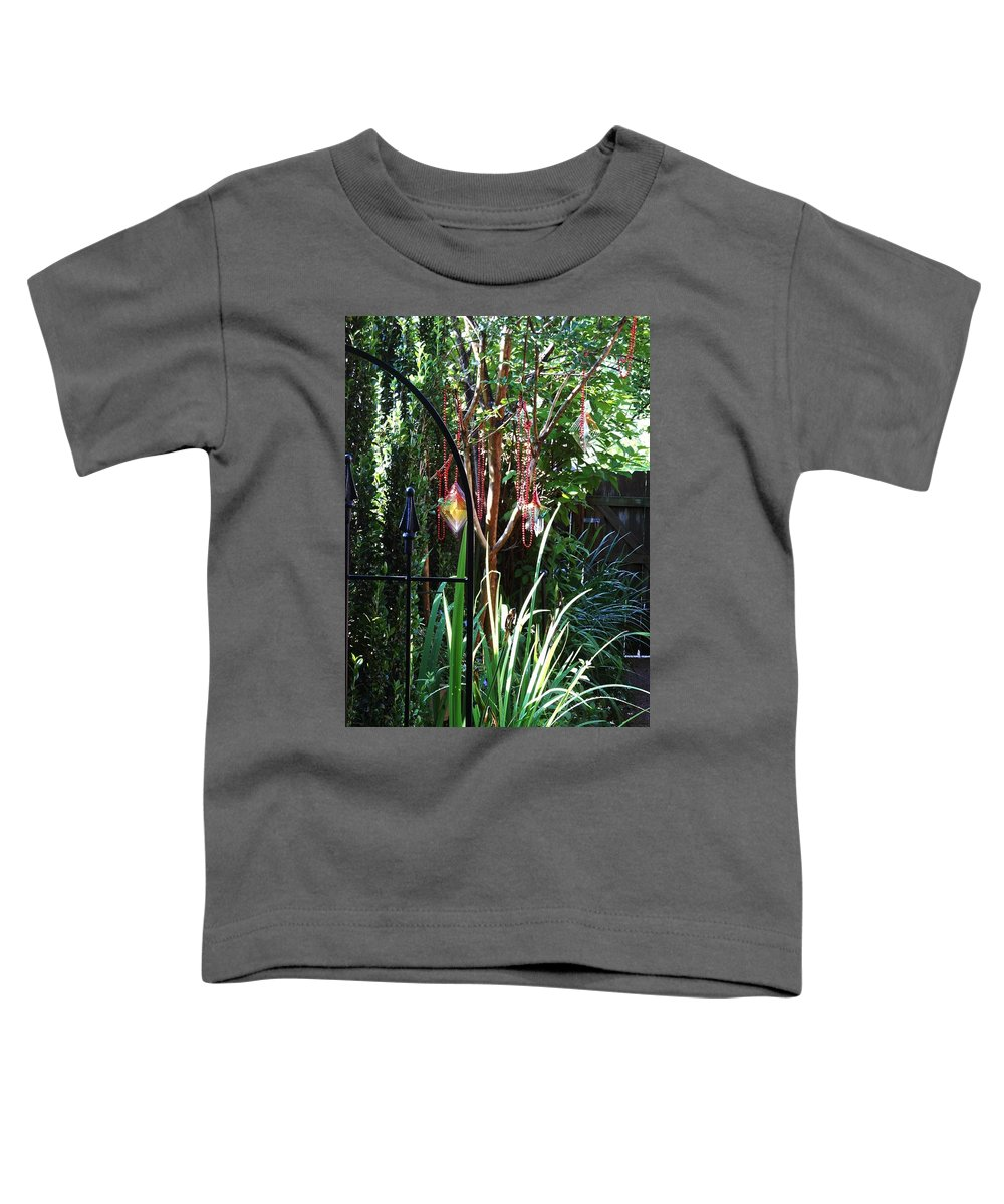 Blue Toddler T-Shirt featuring the photograph Mystery Fence by Lord Frederick Lyle Morris - Disabled Veteran
