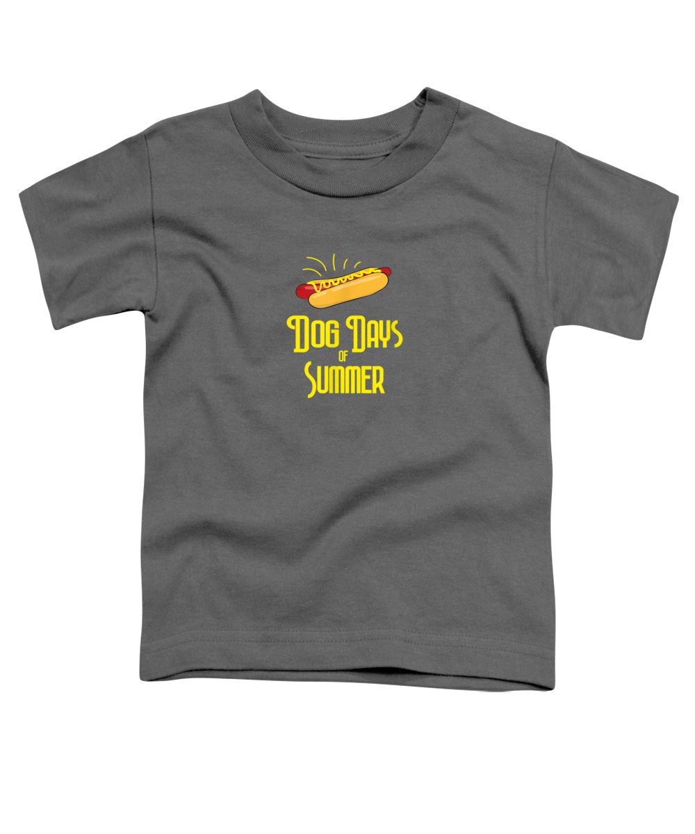 girls' Novelty T-shirts Toddler T-Shirt featuring the digital art National Hot Dog Days Of Summer T Shirt Hot Dog Lovers by Unique Tees