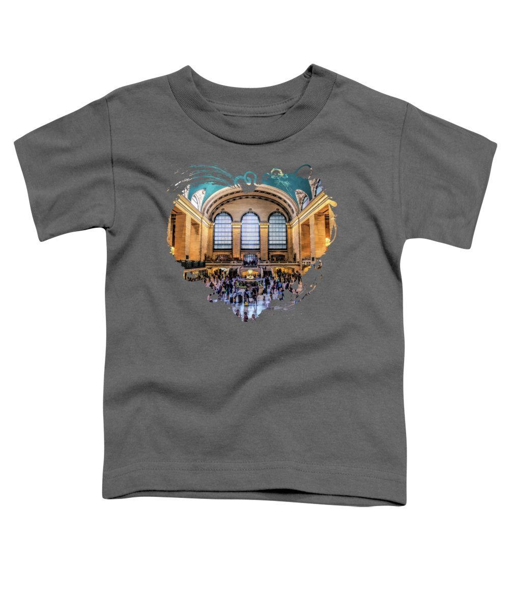 New York Toddler T-Shirt featuring the painting New York City Grand Central Terminal by Christopher Arndt