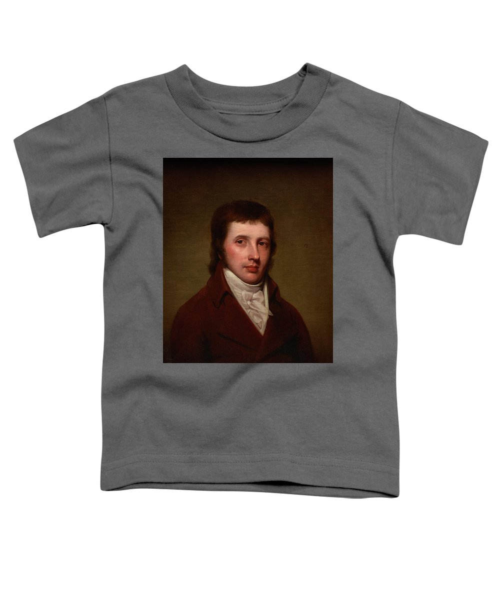 Portrait Of A Man Toddler T-Shirt featuring the painting Portrait Of A Man by Rembrandt Peale