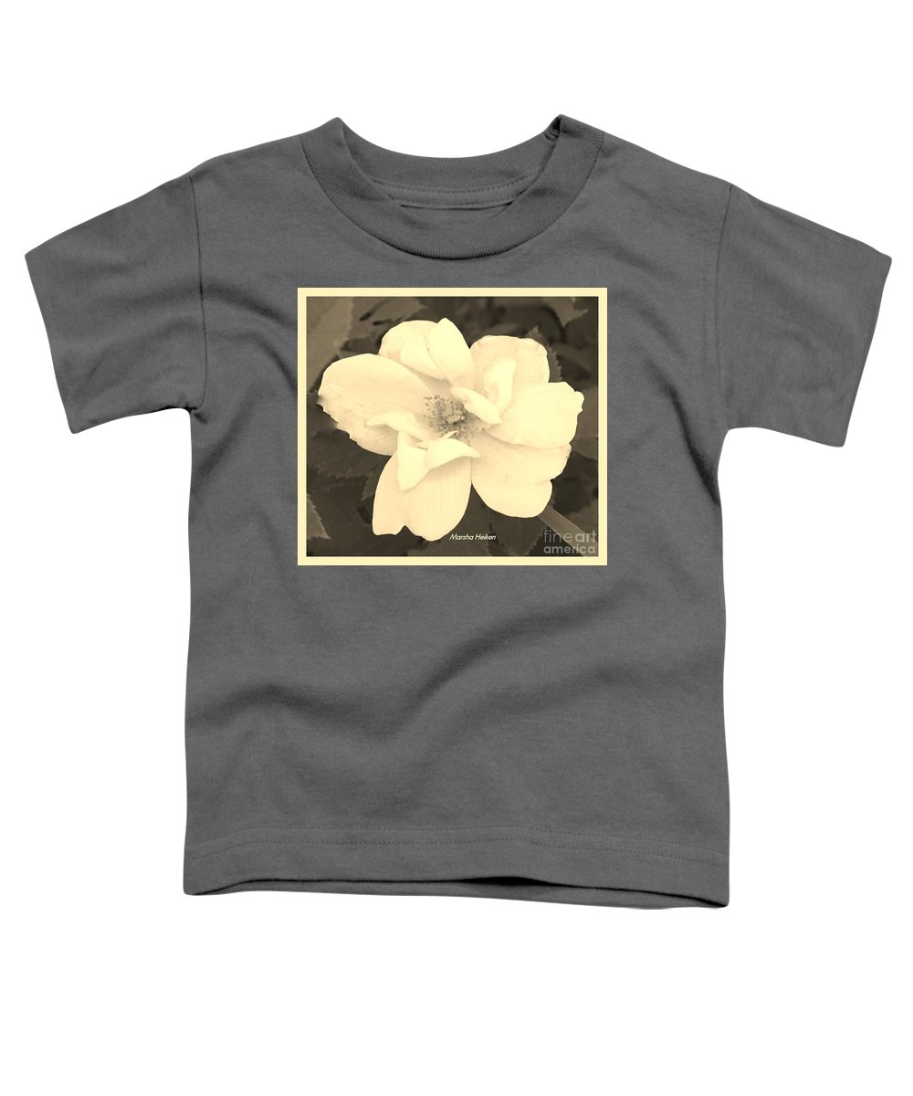 Photo Toddler T-Shirt featuring the photograph Rose Sepia by Marsha Heiken