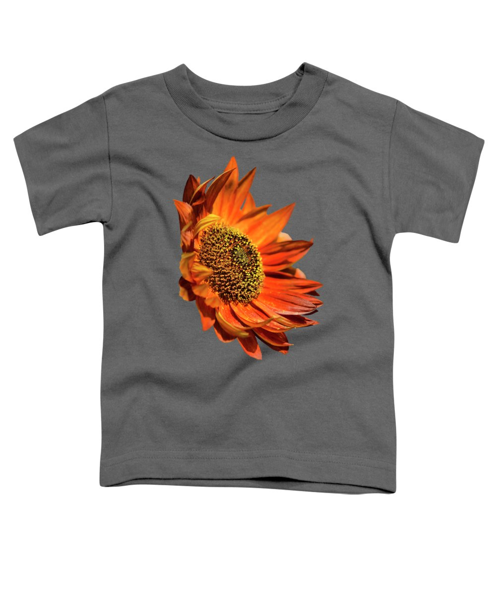 Sunflower Toddler T-Shirt featuring the photograph Selective Color Sunflower by Christina Rollo