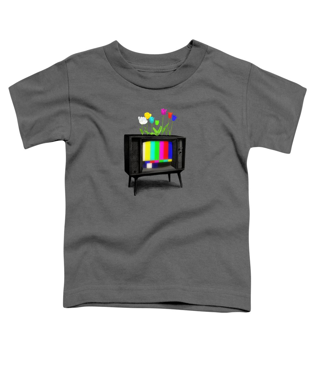 Garden Toddler T-Shirt featuring the drawing Test Garden by Eric Fan